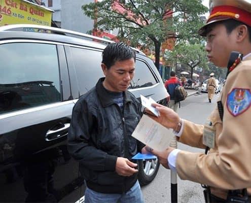 Các bác tài đã được phép mang bản photo giấy tờ xe lưu hành