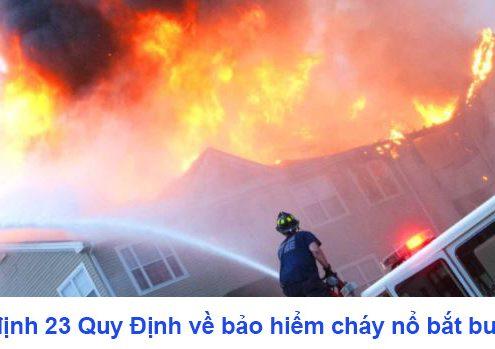 Nghị định 23 quy định về bảo hiểm cháy nổ bắt buộc