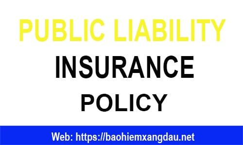 hợp đồng bảo hiểm trách nhiệm công cộng