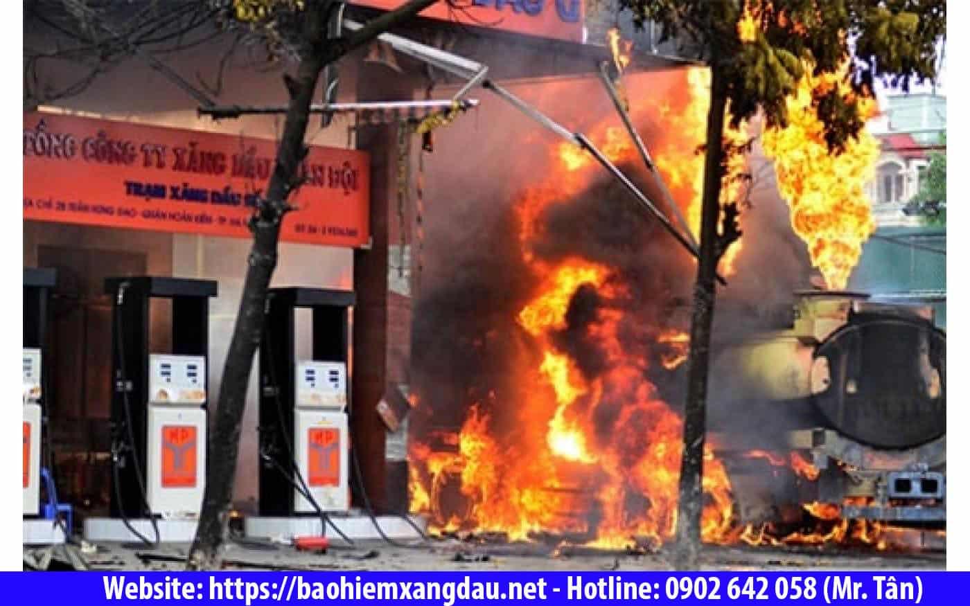Bảo hiểm cháy nổ cây xăng dầu
